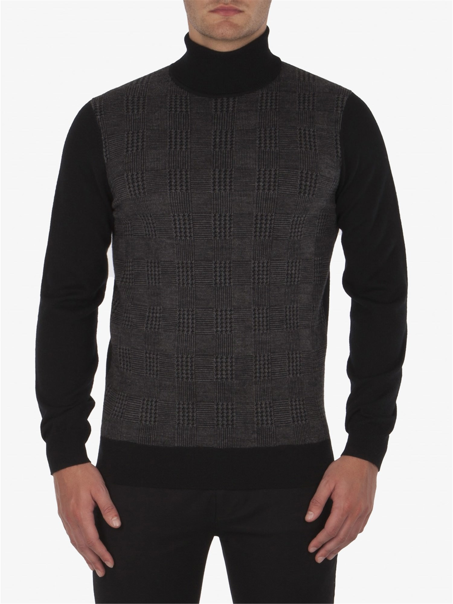 PRINCE OF WALES ROLL NECK