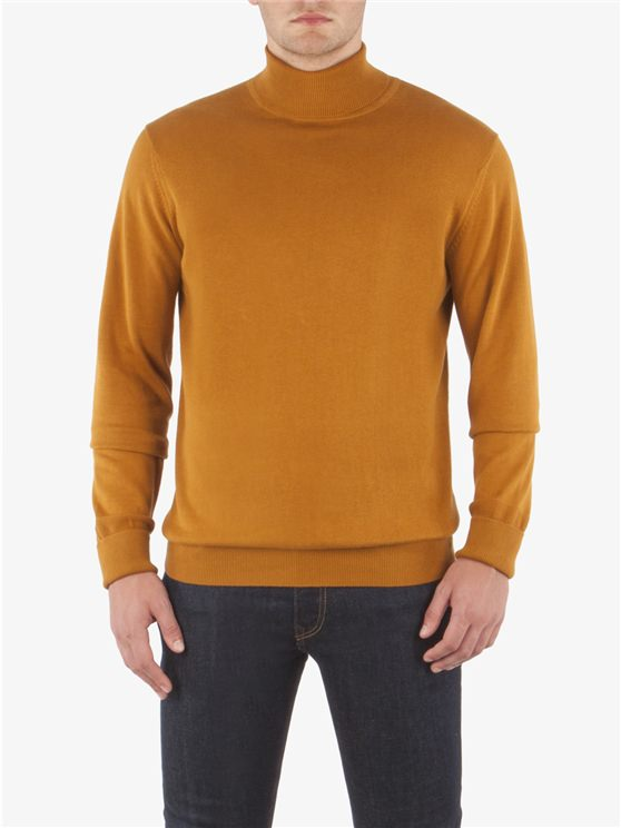 COTTON ROLL NECK KNIT